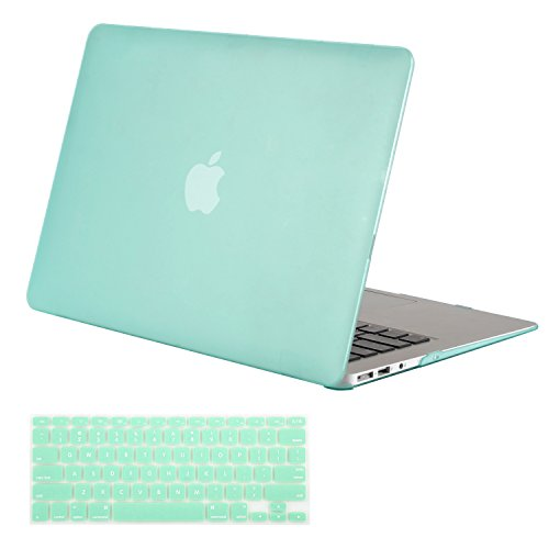 MOSISO Plastic Hard Shell Case & Keyboard Cover Compatible MacBook Air 11 Inch (Models: A1370 & A1465), Mint Green