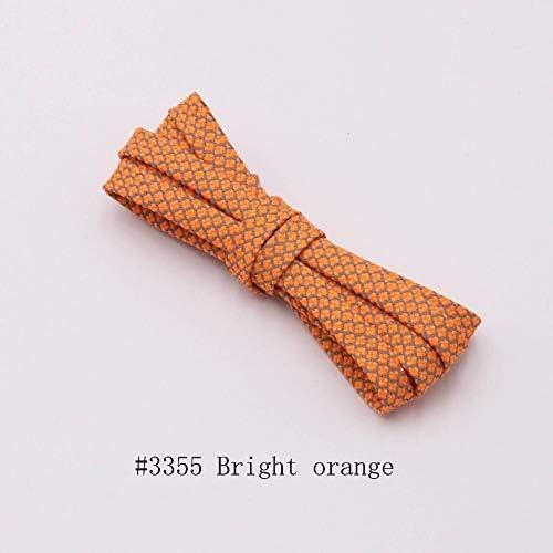 TMYQM 靴紐のランナーは靴を実行するためのベルトスポーツの安全靴ひも靴ひもを織り (Color : 3355 Bright orange, Size : 70cm)