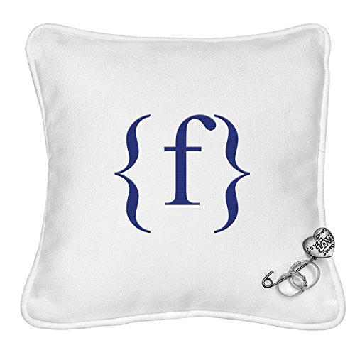 Cathy's Concepts Personalized Ring Bearer Pillow with Heart Pin, Letter F