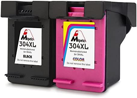 Mipelo Remanufacturado HP 304XL 304 Cartuchos de tinta Compatible con HP DeskJet 3720 3730 3733 Impresora (1 Negro, 1 Tricolor)