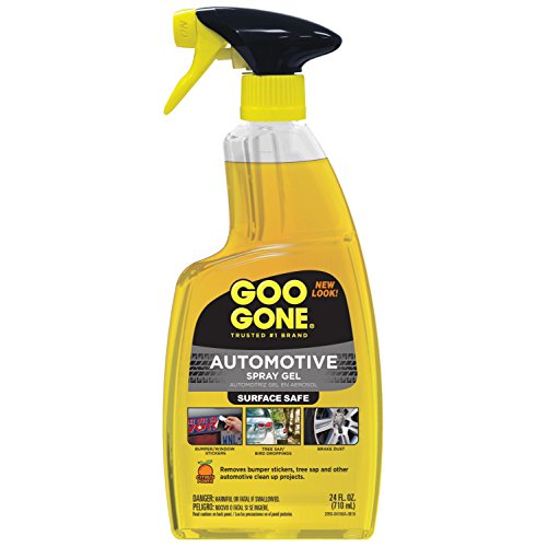 - Goo Gone Automotive Cleaner - 24 Ounce - Bumper Stickers, Gum, Bird Droppings, Tree Sap, Spray Paint, Brake Dust and Asphalt