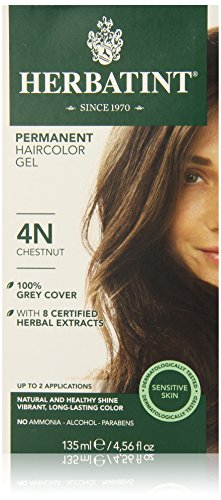 Herbatint Permanent Herbal Haircolor Gel, Chestnut, 4.56 Ounce (Best Chestnut Hair Dye)