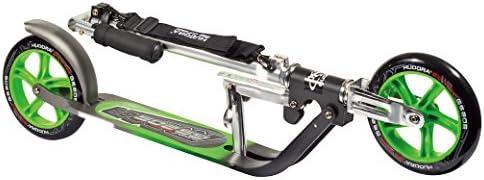 HUDORA 205 Adult Folding Kick Scooter Adjustable Bar,Reinforced Deck Easily Fold /& Carry LIYU . 2 Big PU Wheels 205 mm