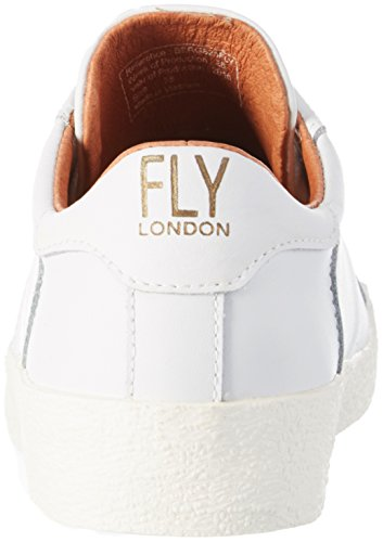 White Zapatillas Berg823fly Mujer para London Blanco Fly YOqvZx