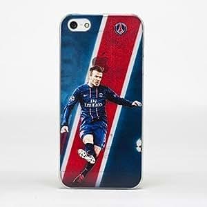 GONGXI-Patrón diseñado especial estrella de fútbol duro caso durable para iPhone5/5S , Multicolor