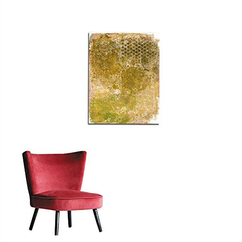 Wall Paper Brown and Yellow Grungy Textured Background Mural 32
