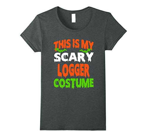 Womens Logger - Scary Costume Halloween T-Shirt Medium Dark (Women's Logger Costume)