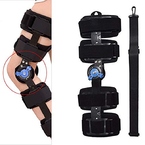 HiGOGO Adjustable Hinged Knee Joint Fixator ROM Orthosis, Support Immobilizer Brace Leg Power Lift Immobilizer for Knee Injury Recovery Arthritis Rehabilitation (M)