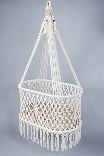 Steel Bassinet Infant (Hanging Cradle in Macrame)