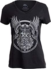 A t-shirt with an epic print of the Norse god Odin, acommpanied by Huginn and Muninn, his ravens. Features Viking prayer along bottom of crest