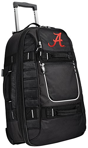 Small University of Alabama Carry-On Bag Wheeled Suitcase Luggage Bags by Broad Bay