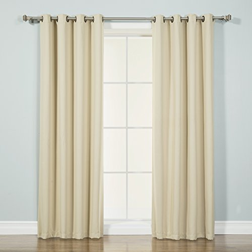 Best Home Fashion Thermal Insulated Blackout Curtains - Antique Bronze Grommet Top - Beige - 52