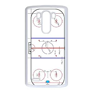 LG G3 Cell Phone Case White Ice Hockey Rink A38436573