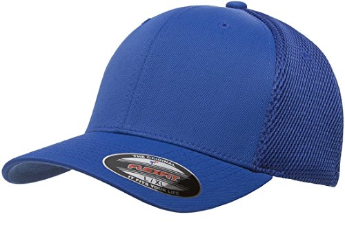 Flexfit 6533 Ultrafibre & Airmesh Fitted Cap, Royal - (Spandex Fitted Cap)