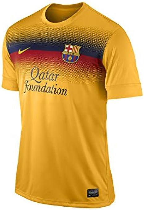 Nike Camiseta de FC Barcelona Prematch Top II, Color Naranja/Amarillo, tamaño Medium: Amazon.es: Ropa y accesorios