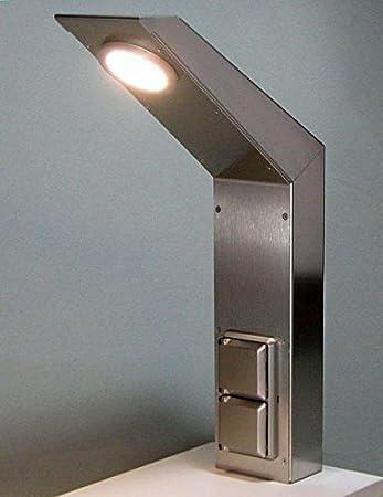 MaxxPort Edelstahl Energiebox Küchensteckdose LED Licht ...