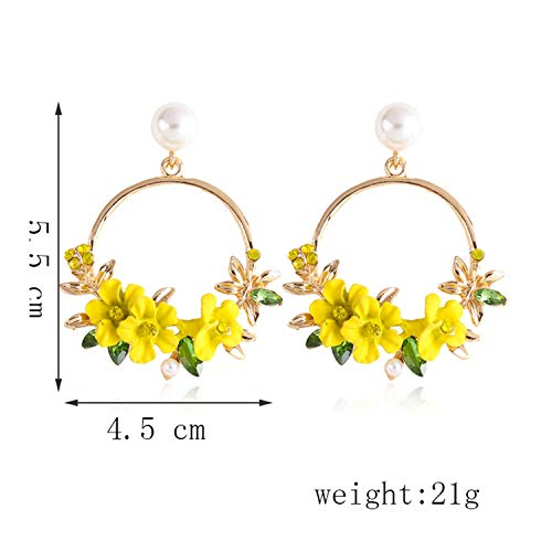 Trendy Cute Earrings For Women Jewelry Female Rhinestone Metal Round Circle - Circle Ledger
