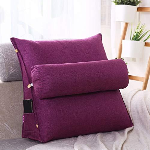 Violet 454520cm WLDD Triangle Avec Coussin De Cou De Couverture Amovible Dans Le Canapé De Chevet Qui Utilisait La Lecture De Dossier Lombaire (Couleur   Violet, taille   45  45  20cm)