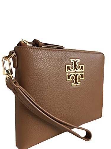 Tory Burch Britten Large Zip Pouch/Wristlet - Bark Style No. 39061 by Tory Burch
