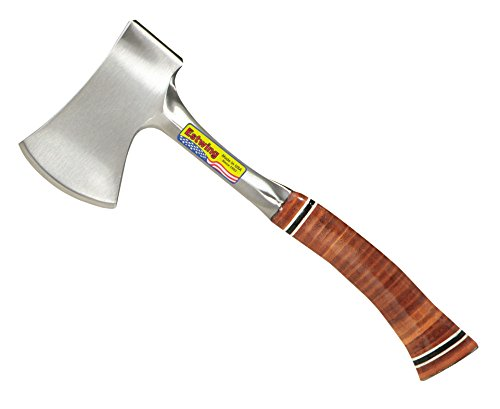 Estwing Sportsman's Axe - 12' Camping Hatchet with Forged Steel Construction & Genuine Leather Grip - E14A