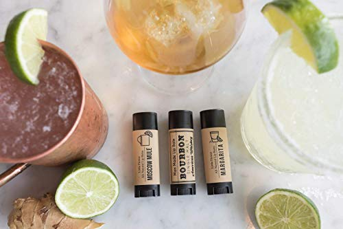 (Funny Father's Day Gift - Foodie gift -Bourbon Lover Gift Cocktail Lip Balm Trio)