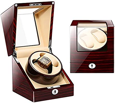 Caja Giratorias para Relojes Automaticos, Watch Winder Exhibición De Almacenamiento De Reloj Giratorio De Fibra De Carbono,2+0,A4: Amazon.es: Hogar