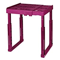 """Tools for School Locker Shelf. Adjustable Width 8"""" - 12 1/2"""" and Height 9 3/4"""" - 14"""". Stackable and Heavy Duty"""