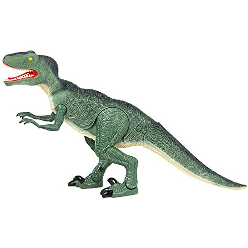 FanBell Remote Control Dinosaur RC Toys Rex Dinosaur Tyrannosaurus T-Rex Velociraptor Dragon Toy Lights Sounds Walking and Roaring Kid Pet Animal