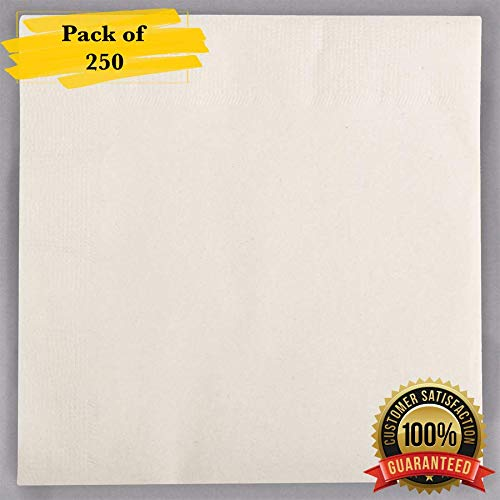 MM Foodservice 2- Ply Cocktail Napkins, Beverage Paper Napkins, Set of 250 (Ivory) ()