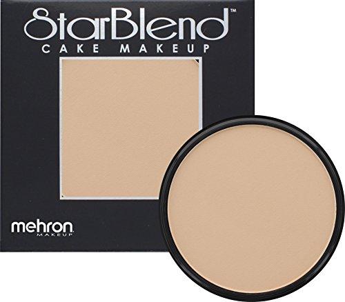 [Mehron Makeup StarBlend Cake Makeup LIGHT MEDIUM OLIVE – 2oz] (Halloween Costume Ideas 50 Shades Of Grey)