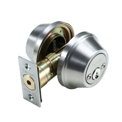 Double Cylinder Deadbolt Finish: Satin Stainless Steel