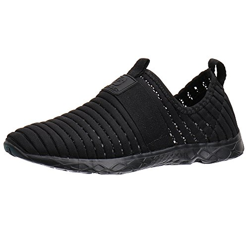 Women's Aleader Black76 Mesh Slip Shoes On Water 6HqHTd