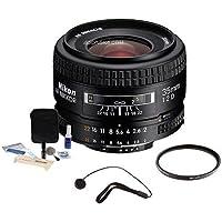 Nikon 35mm f/2D AF Nikkor Lens Kit with 5 Year U.S.A. Warranty, Tiffen 52mm UV Filter, Lens Cap Leash, Professional Lens Cleaning Kit