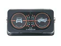 Jeep Truck Sand Rail Universal Off Road Clinometer with Dual Angles and Lights