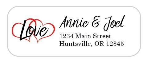 Love Personalized Address Labels - Wedding Address Labels - 30 Count - Personalized