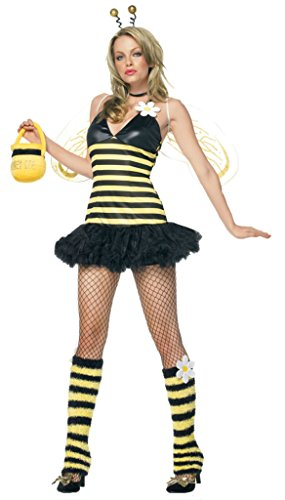 Leg Avenue Womens Daisy Bee Honey Bee Outfit Fancy Dress Sexy Costume, XS (Daisy Honey Bee Costumes)