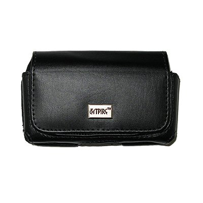 EMPIRE Schwarz Leather Leder Case Tasche Hülle Pouch with Gürtelclip and Gürtelschlaufen for Apple iPhone 5 / 5S / 5c