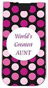 Rikki KnightTM World's Greatest Aunt Pink Polka Dot - Smart Phone Neoprene Protective Pouch for iPhone 4/4s/5/5s/5c, Motorola Moto X, Galaxy S3/S4/Note 3/Ace 2, LG Optimus Gpro/G2/L3/4X HD, Sony Xperia Z1S/U, HTC Droid/One/One X/Pro/mini, Blackberry G10/Z1