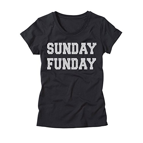 HGOS Womens Sunday Funday Shirt - Ladies Funny Drinking T-Shirt - Girls Party Tee