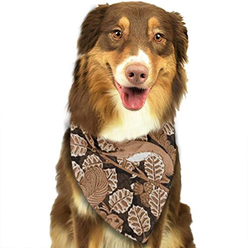 OURFASHION Tree Branch with Squirrel Bandana Triangle Bibs Scarfs Accessories for Pet Cats and Puppies.Size is About 27.6x11.8 Inches (70x30cm). -