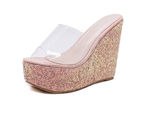 Clear Wedge High Heel - 4