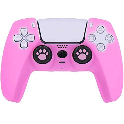 funda + 8 grips para control playstation 5 rosa