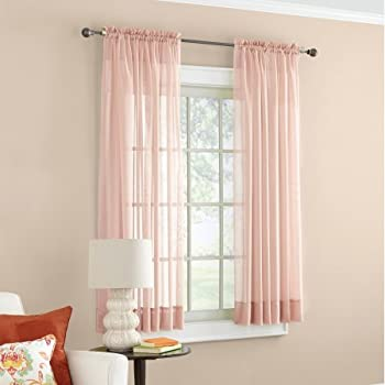 Amazon Com Mainstays Marjorie Sheer Voile Curtain Panel