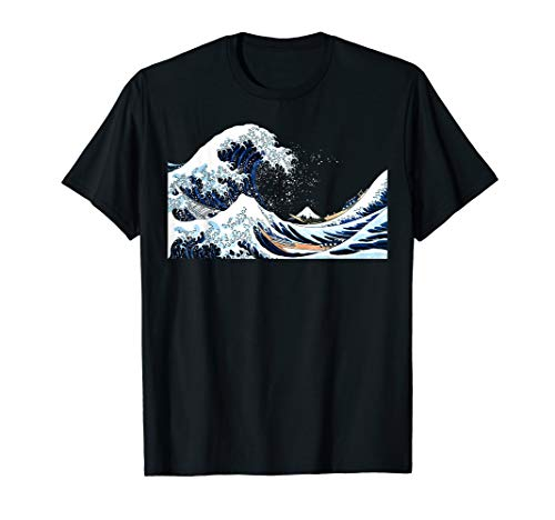 The Great Wave off Kanagawa Hokusai Japanese Art T Shirt