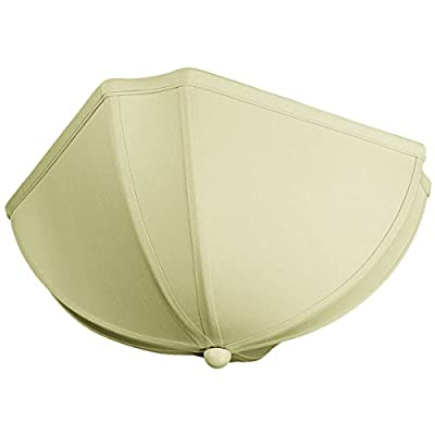 11x11x5 Deluxe Clip On Ceiling Lampshade Eggshell Shantung