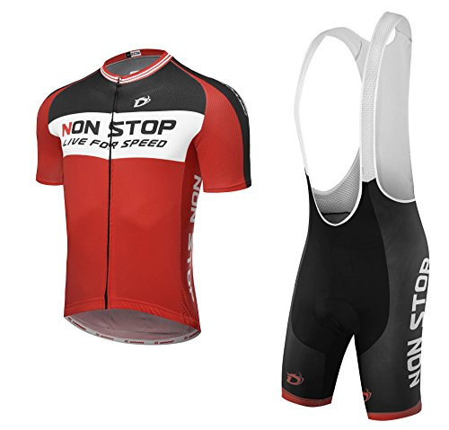 """NonStop """"Comfort"""" Breathable Bicycle Cycling Short Sleeve Clothing Set. Jersey And Bib Short"""