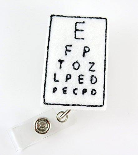 Eye Chart - Nurse Badge Reel - Retractable ID Badge Holder - Nurse Badge - Badge Clip - Badge Reels - Pediatric - RN - Name Badge Holder