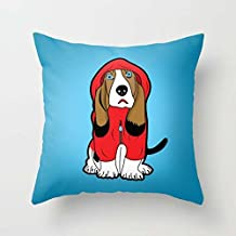 The Dogs Pillowcover Of 18 X 18 Inches / 45 By 45 Cm Decoration Gift For Bedroom Play Room Kids Room Festival Bar Seat (each Side)