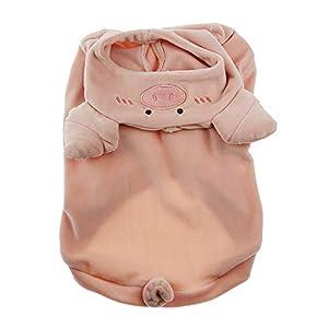 ZARYIEEO Dog Sweater, Cute Dog Pig Pattern Vest, Small Dog Cat Hoodie Jacket, Novel Design Dog Coat for Winter Autumn, French Bulldog Warm Apparel