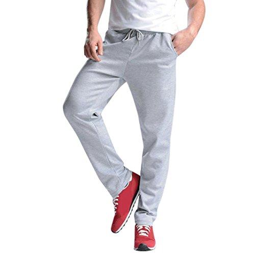 Men Sweatpants,Caopixx Men's Running Trousers Sports Pants Hip Hop Jogging Joggers Sportwear (Asia Size XL=US Size L, Gray) from Caopixx Trousers